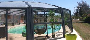 abri de piscine dome